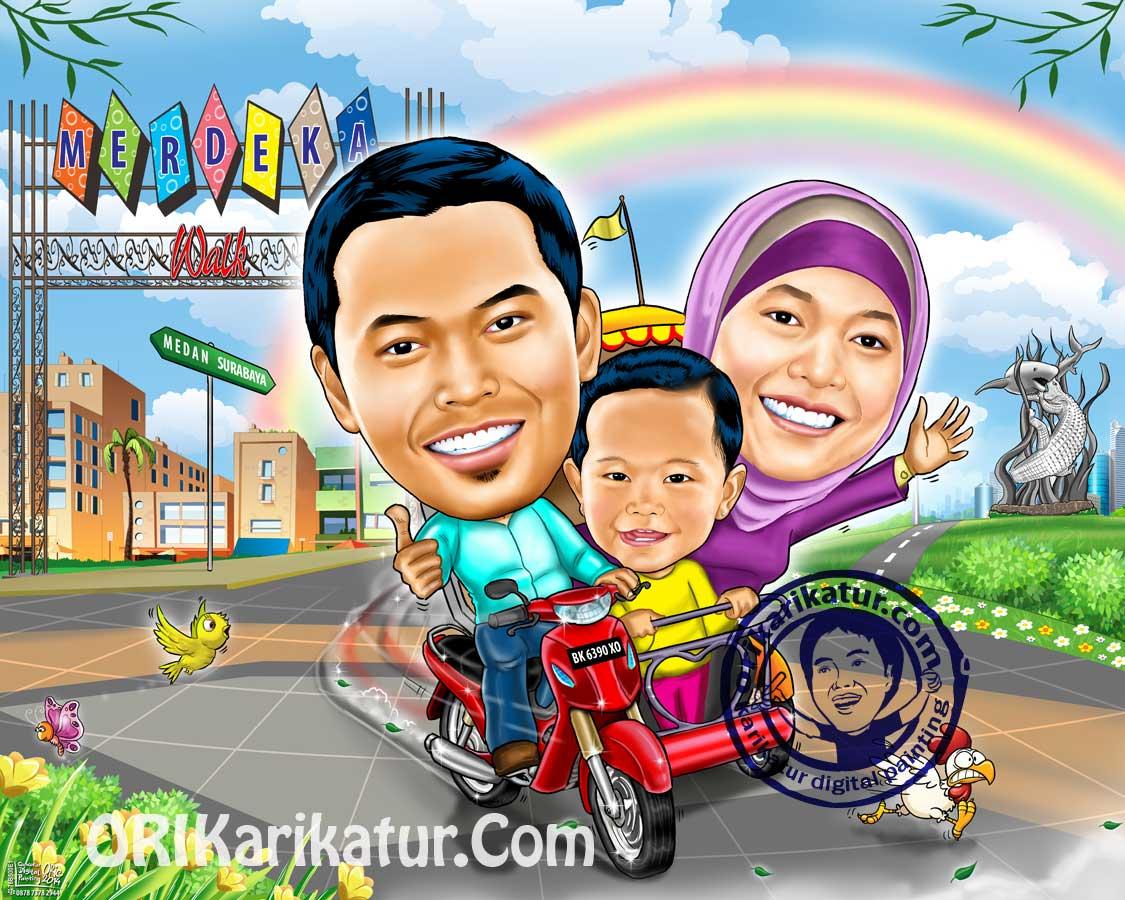 Karikatur Family Keluarga Orikarikatur