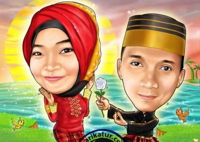 jasa-gambar-karikatur-wedding-prewedding-02