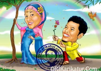 jasa-gambar-karikatur-wedding-prewedding-07
