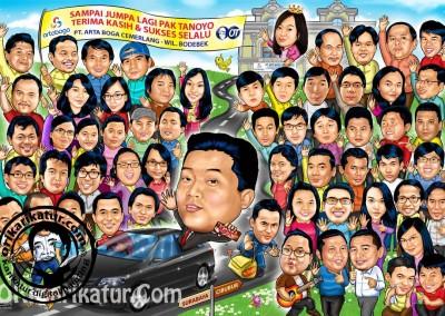 jasa-karikatur-group-farewell-orikarikatur-08