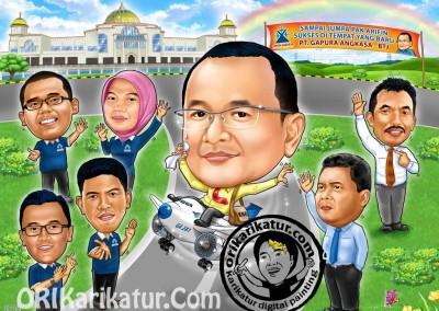 jasa-karikatur-group-farewell-orikarikatur-09