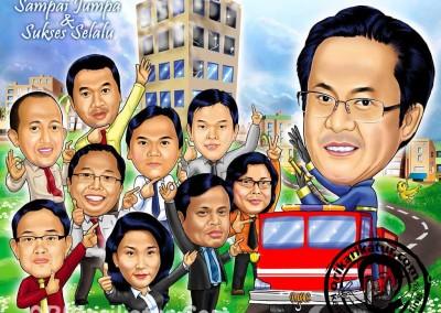 jasa-karikatur-group-farewell-orikarikatur-11