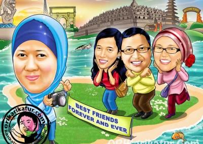 jasa-karikatur-group-farewell-orikarikatur-18
